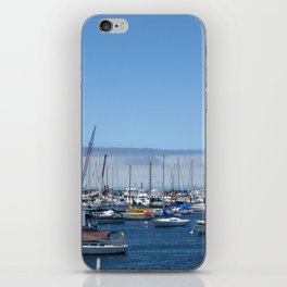 Boats in the harbor iPhone Skin