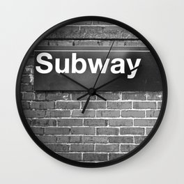 Subway Wall Clock