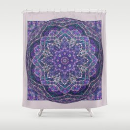 Batik Meditation  Shower Curtain