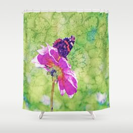 Butterfly experience Shower Curtain