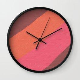 Earth Colors Wall Clock