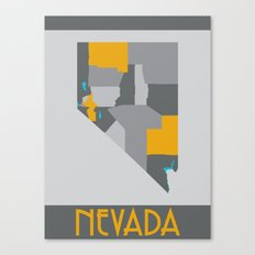 Nevada State Map Print Canvas Print