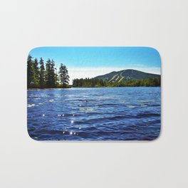 Shawnee Peak from Moose Pond in Maine (1) Bath Mat