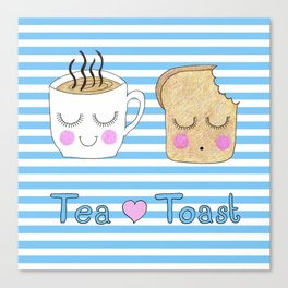 Tea Loves Toast Canvas Print