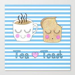 Tea Loves Toast Canvas Print