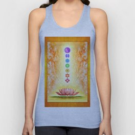 Sacred Lotus - The Seven Chakras .I Unisex Tanktop