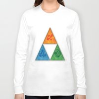 triforce Long Sleeve T-shirts featuring Zelda Triforce by Bradley Bailey