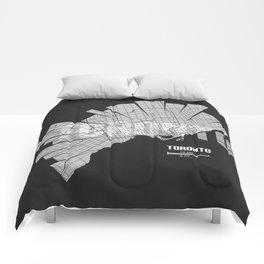 Toronto Map Comforters