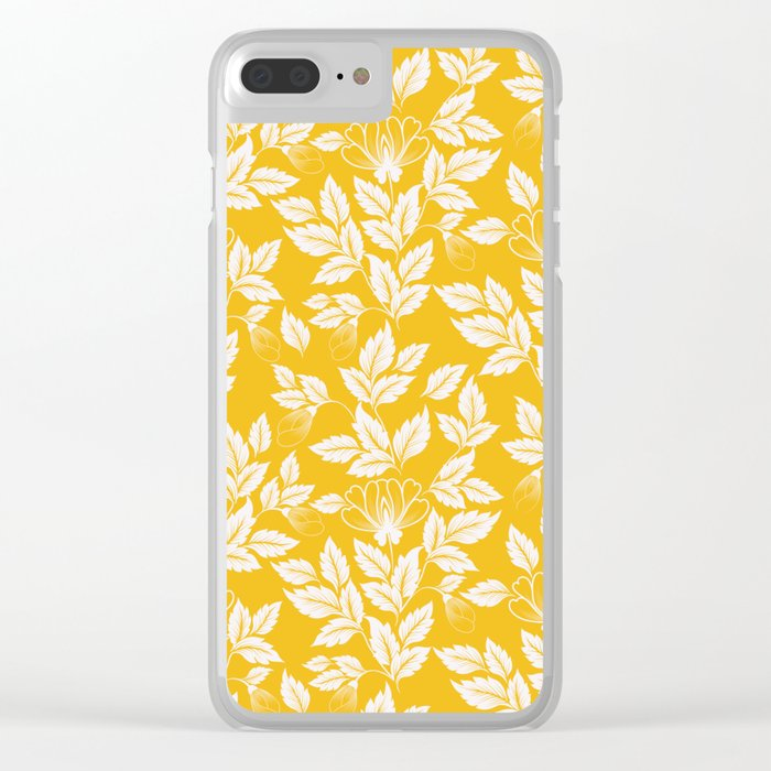 Leaves Pattern 11 Clear iPhone Case