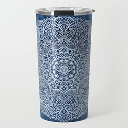 White mandala Travel Mug