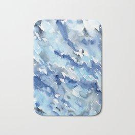 Watercolor madness in blue Bath Mat