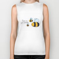 bees Biker Tanks featuring Bees!!! by AbelleArt