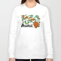 hawaii Long Sleeve T-shirts featuring HAWAII by Christiane Engel