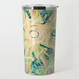 "Series ""Jazz"". ""Green silent light"" Travel Mug"