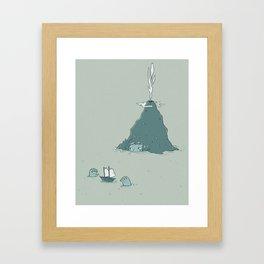 the island Framed Art Print