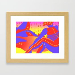 Sunset in the desert of the real Framed Art Print