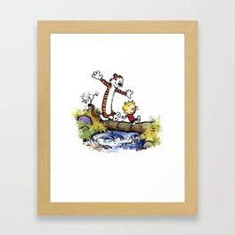 calvin and hobbes 03 [TW] Framed Art Print