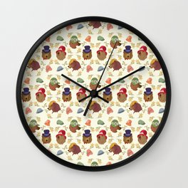 Bears and Hats Wall Clock