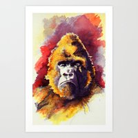 ape Art Prints featuring APE by Chris Brothers