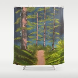 Still standing - strong trees Shower Curtain