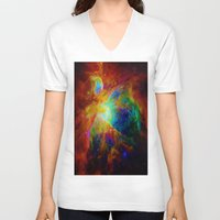 nebula V-neck T-shirts featuring Orion NEBula  : Colorful Galaxy by 2sweet4words Designs