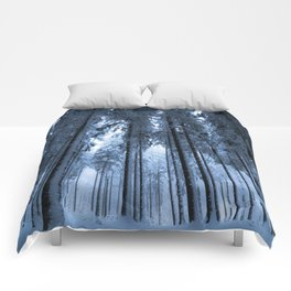 Snowy Winter Trees - Forest Nature Photography Comforters