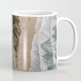 Road by the sea as seen from above Coffee Mug