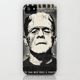 Frankenstein (B&W) iPhone Case