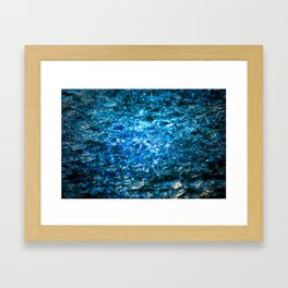 Water Color - Blue Framed Art Print