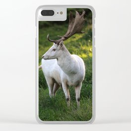white Deer Clear iPhone Case