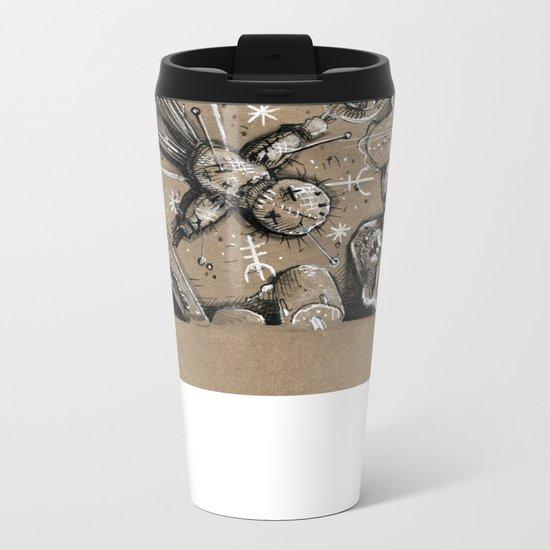 Voodoo Doll (Drawlloween 4/31) Metal Travel Mug