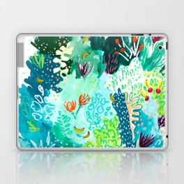 Twice Last Wednesday: Abstract Jungle Botanical Painting Laptop & iPad Skin
