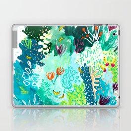Twice Last Wednesday: Abstract Jungle Botanical Painting Laptop & iPad Skin