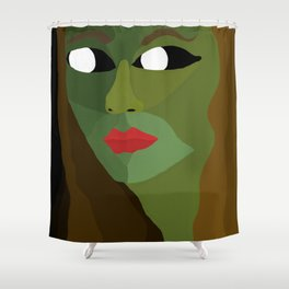 Olive Exists in the Dark Shower Curtain