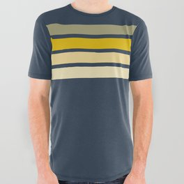 Racing Retro Stripes All Over Graphic Tee