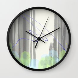 Late Confetti Wall Clock