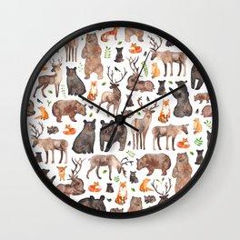 Woodland Animals Wall Clock
