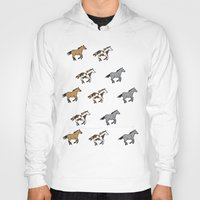 horses Hoodies featuring Horses by mleko