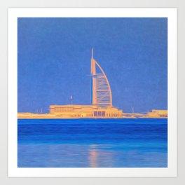 Burj AL Arab Dubai Art Art Print