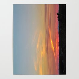 July Sunset in Portland, Maine (2) Poster
