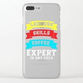 Awesome Expert Tshirt Design Expert in any field Clear iPhone Case