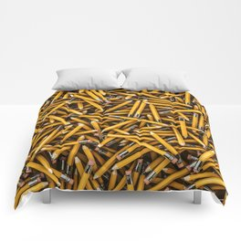 Pencil it in / 3D render of hundreds of yellow pencils Comforters