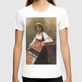 "Jean-Baptiste-Camille Corot ""Italian Woman (La Morieri)"" T-shirt"