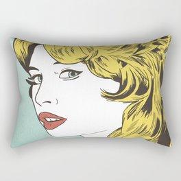 Blonde Bombshell Rectangular Pillow