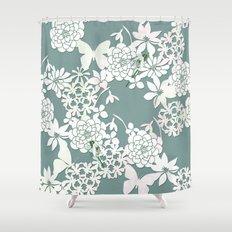 Papercut snowdrops Shower Curtain
