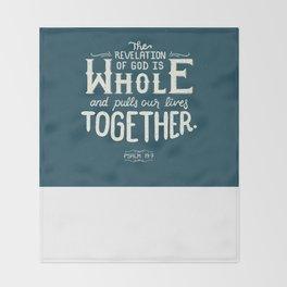 Revelation of God Throw Blanket