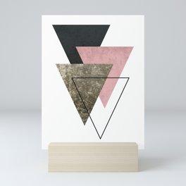 Modern Abstract Triangle 2 Mini Art Print