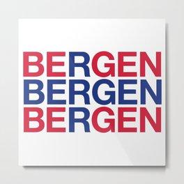 BERGEN Metal Print