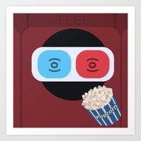 cinema Art Prints featuring Cinema by Thomas Official