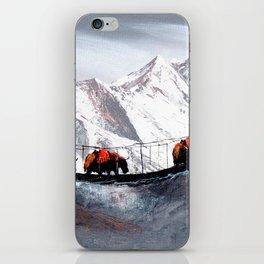 Herd Of Mountain Yaks Himalaya iPhone Skin